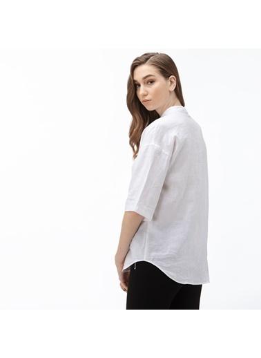 Lacoste Kadın Hakim Yaka Gömlek CF0057.57A Beyaz